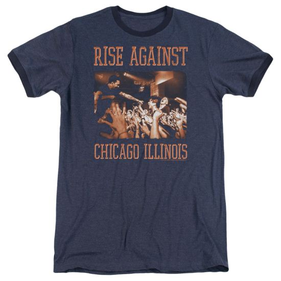 Rise Against Alive And Well Navy Ringer Shirt