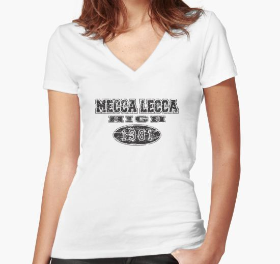 Mecca Lecca High Women's Fitted V-Neck T-Shirt by rothsauce T-Shirt