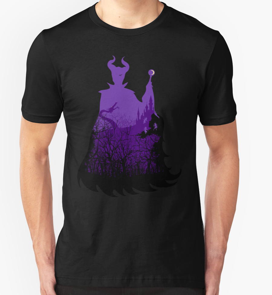Midnight Maleficent T-Shirt by Sarah Cave T-Shirt