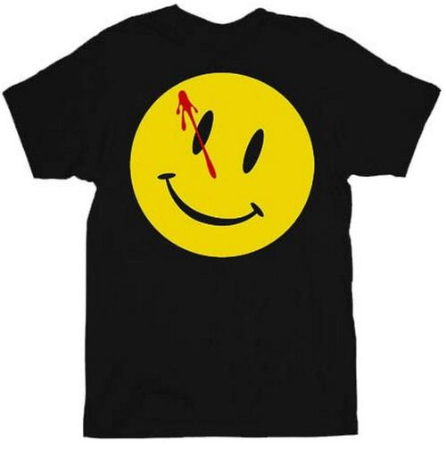 Watchmen Bloody Smiley Face T-shirt Tee
