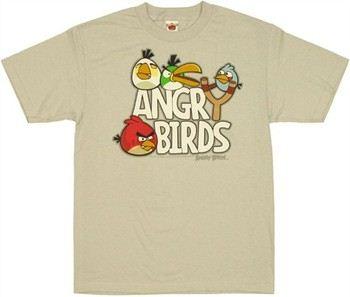 Angry Birds Slingshot Logo T-Shirt