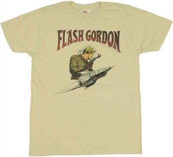 Flash Gordon Rocket Logo T-Shirt Sheer