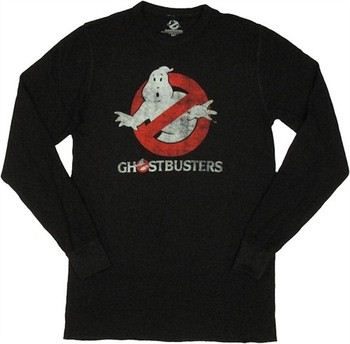 Ghostbusters Logo Glow in the Dark Thermal Long Sleeve T-Shirt