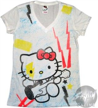 Hello Kitty Guitar Baby Doll Tee by MIGHTY FINE