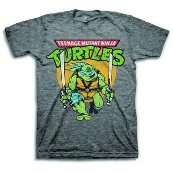 Teenage Mutant Ninja Turtles Leonardo Snow Heather T-Shirt