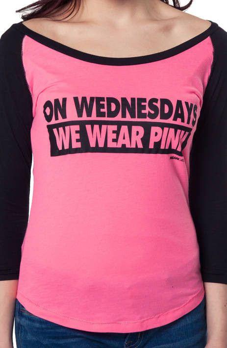 Wednesdays We Wear Pink Mean Girls Shirt