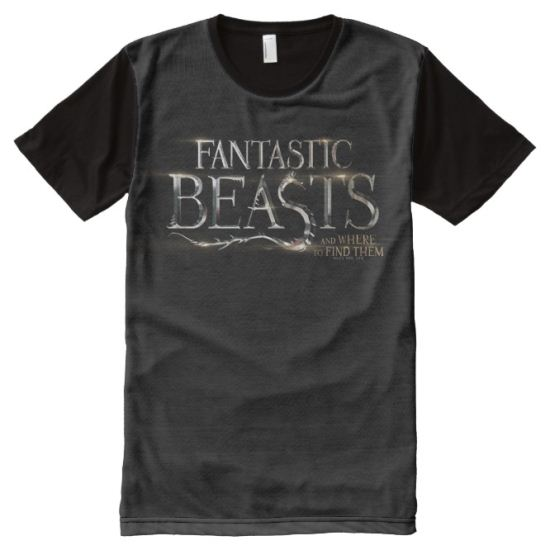 Fantastic Beasts And Where To Find Them Logo All-Over Print T-shirt