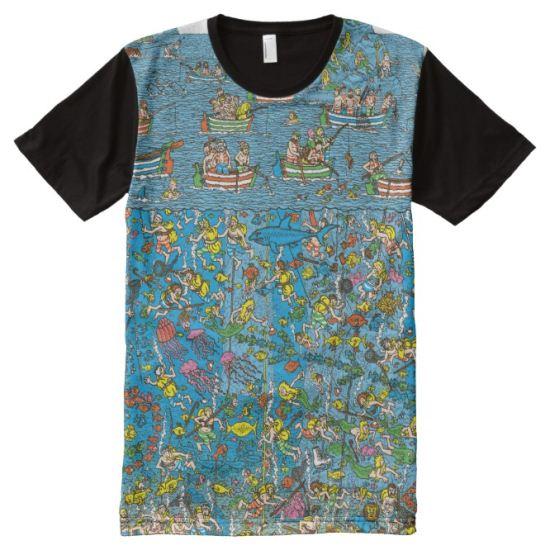 Where's Waldo Deep Sea Divers All-Over Print Shirt