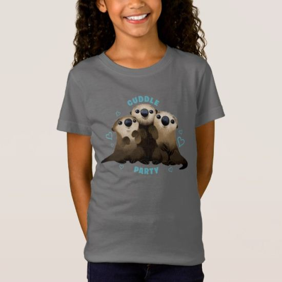 Finding Dory Otters   Cuddle Party 2 T-Shirt