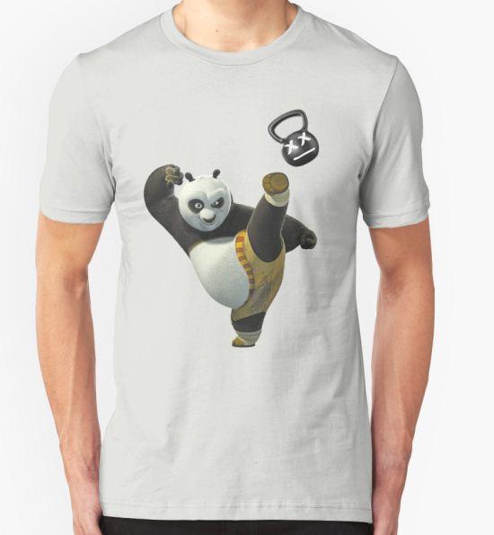 Kettlebell Kung Fu Panda T-Shirt by imotvoksim T-Shirt