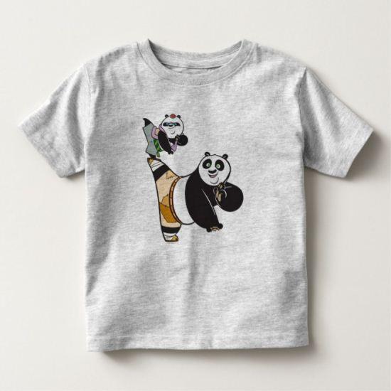 Po Ping and Bao Kicking Toddler T-shirt