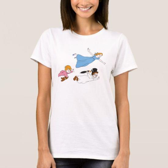 Peter Pan's Wendy, John and Michael Darling Flying T-Shirt