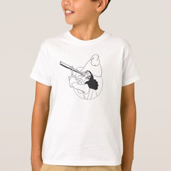 Peter Pan Captain Hook spyglass telescope Disney T-Shirt