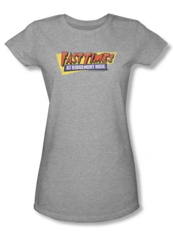 Fast Times At Ridgemont High Juniors T-shirt Logo Heather Shirt