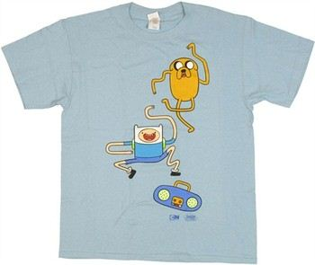 Adventure Time with Finn and Jake Dance Party T-Shirt