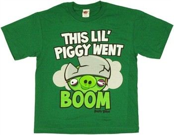 Angry Birds This Lil' Piggy Went Boom Youth T-Shirt