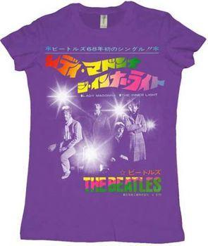 The Beatles Inner Light Juniors Purple T-shirt