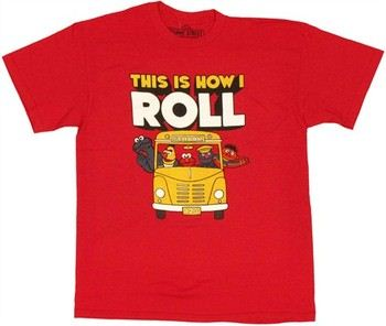 Sesame Street School Bus This is How I Roll T-Shirt