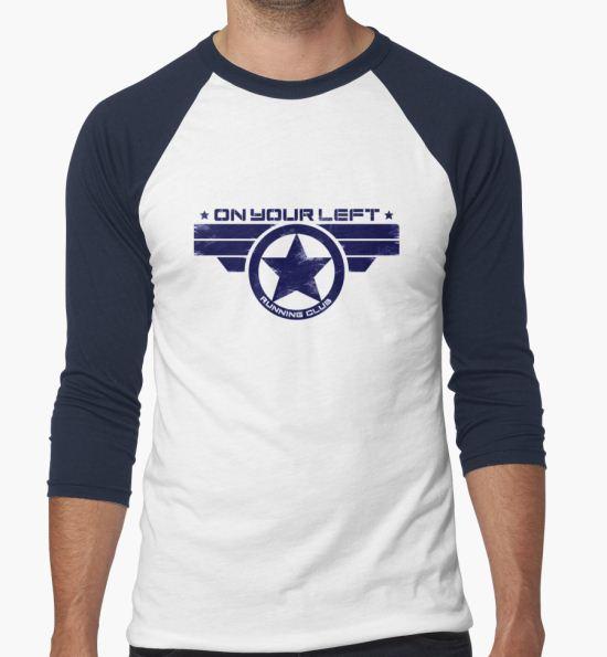 "'""On Your Left Running Club"" Hybrid Distressed Print 1' T-Shirt by coldbludd T-Shirt"