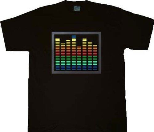 T-Qualizer El Lit Glowing Sound Activated Gradient Equalizer Music T-shirt