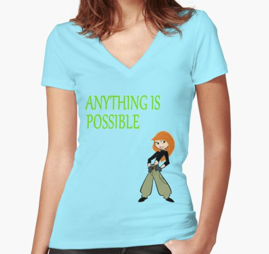 Anything Is Possible - Kim Possible (Designs4You) Women's Fitted V-Neck T-Shirt by Skandar223 T-Shirt