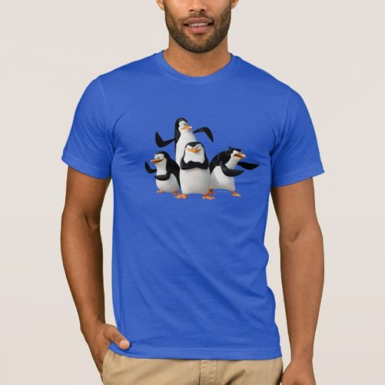 sarcia.eu Blue Long Sleeved Top T-Shirt for Boys The Penguins of Madagascar