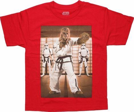 Star Wars Chewbacca Karate Youth T Shirt