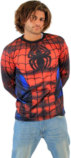 Marvel Spider-Man Sublimated Adult LONG SLEEVE Costume T-Shirt