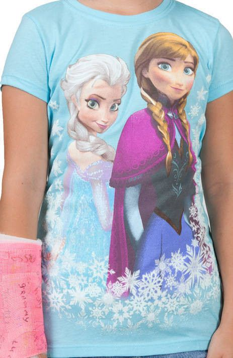 Girls Anna and Elsa Frozen Shirt