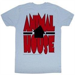 Animal House Shirt Tilted House Adult Light Blue Tee T-Shirt