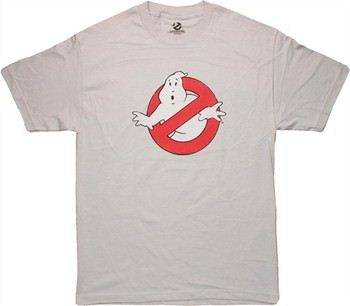Ghostbusters Logo Distressed Gray T-Shirt