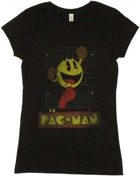 Pac-Man Jump Up Game Screen Vintage Baby Doll Tee