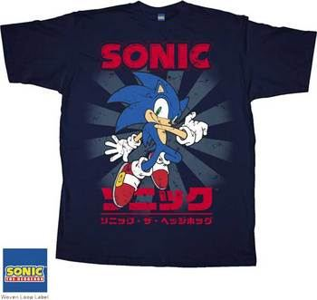 Sonic The Hedgehog Navy Blue Japanese T-Shirt