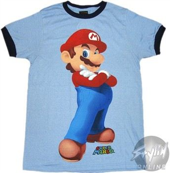 Nintendo Super Mario 3D Stance Ringer T-Shirt