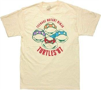 Teenage Mutant Ninja Turtles '87 Stencil Heads T-Shirt