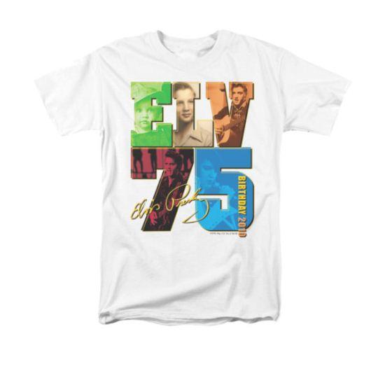 Elvis Presley Shirt 75 Year Birthday White T-Shirt