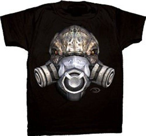 Halo 3 Grunt Realistic Gas Mask Face T-shirt
