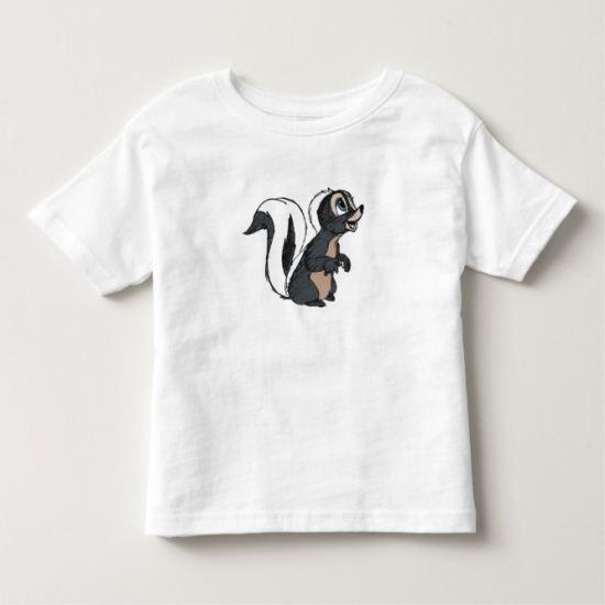 Bambi's Flower The Skunk Sitting Toddler T-shirt