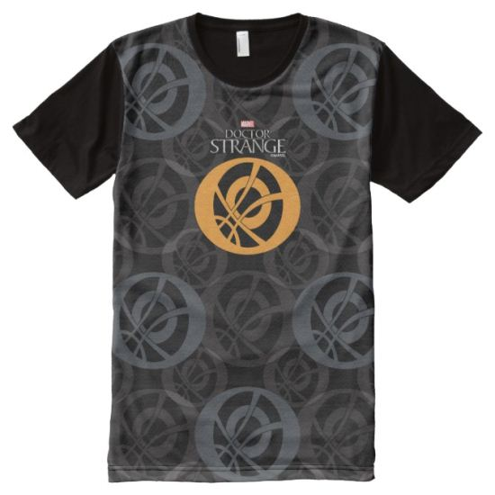 Doctor Strange Eye of Agamotto Pattern All-Over Print Shirt