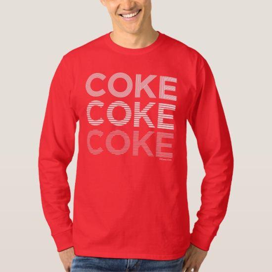 Coke Micro Line White Stack T-Shirt