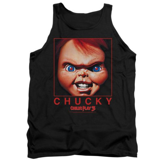 Child's Play 3 Tank Top Chucky Squared Black Tanktop