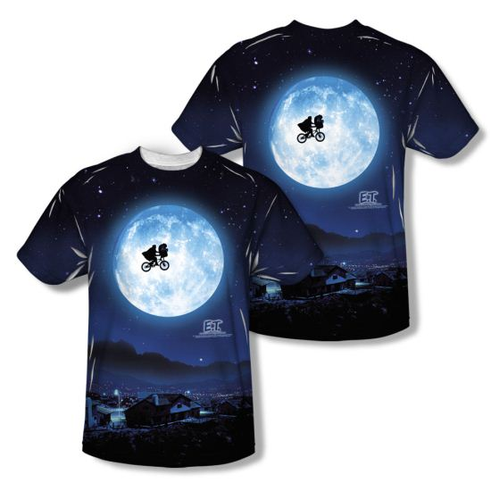 ET Shirts - Extra Terrestrial Moon Sublimation Shirt Front/Back Print