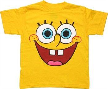 Spongebob Squarepants Face Juvenile T-Shirt