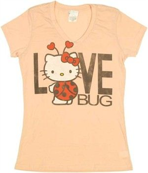 Hello Kitty Love Bug Baby Doll Tee by MIGHTY FINE