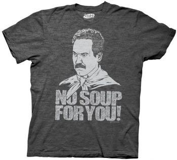 Seinfeld Soup Nazi No Soup For You Charcoal Gray T-shirt