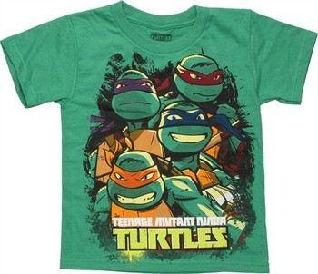 Teenage Mutant Ninja Turtles Group Busts Juvenile T-Shirt