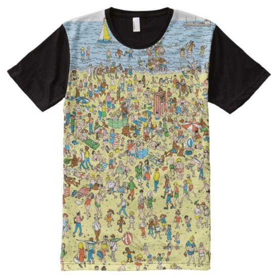 Where's Waldo on the Beach All-Over Print Shirt