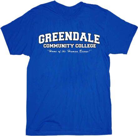 Community Greendale Community College GCC Human Beings Blue Adult T-shirt