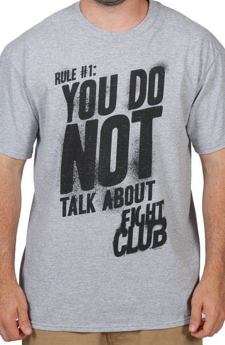 Do Not Talk About Fight Club Shirt