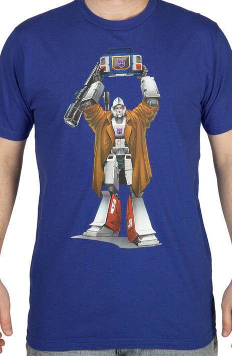 Blue Say Anything Megatron Shirt